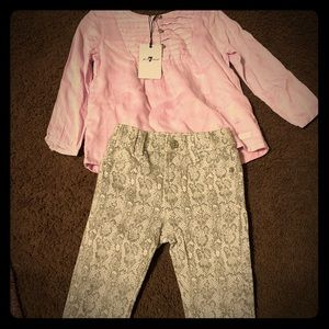 7 for all mankind brand toddler outfit